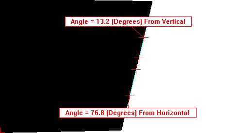 2-point angle from horizontal and vertical