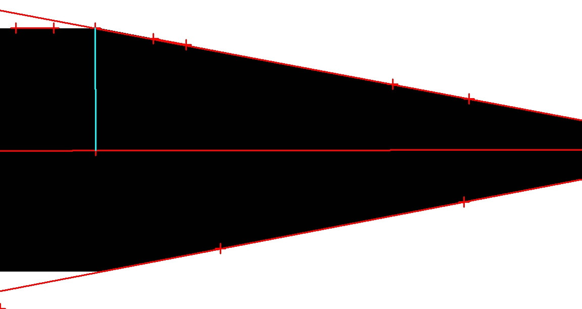 Orthogonal to a bisecting angle measurement marker