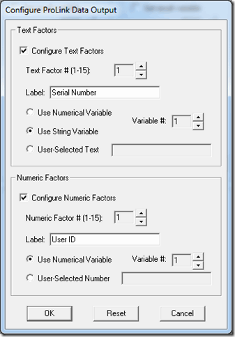 ProLink's QC-Calc data output in VisionGauge Online