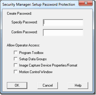 VisionGauge® OnLine's Security Manager dialog