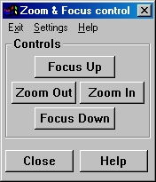 Controls for the Power Zoom and Focus
