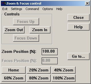 Zoom and Focus - Power Zoom settings