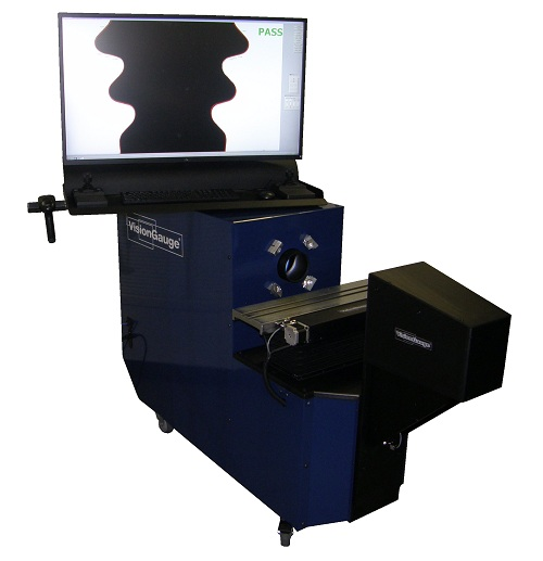500-Series VisionGauge® Digital Optical Comparator Horizontal Configuration (Generation 2 with Single Monitor)