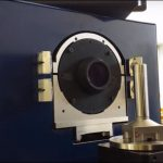 Measuring runout of a rotary stage on a VisionGauge Digital Optical Comparator