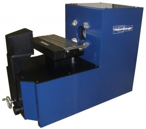 The 400 Series VisionGauge Digital Optical Comparator with manual stage motion in horizontal configuration.
