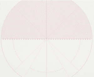 DXF format Radius Chart in VisionGauge® OnLine