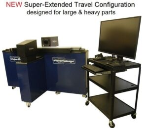 The new VisionGauge® Digital Optical Comparator 500 Series Super-Extended-Travel Configuration