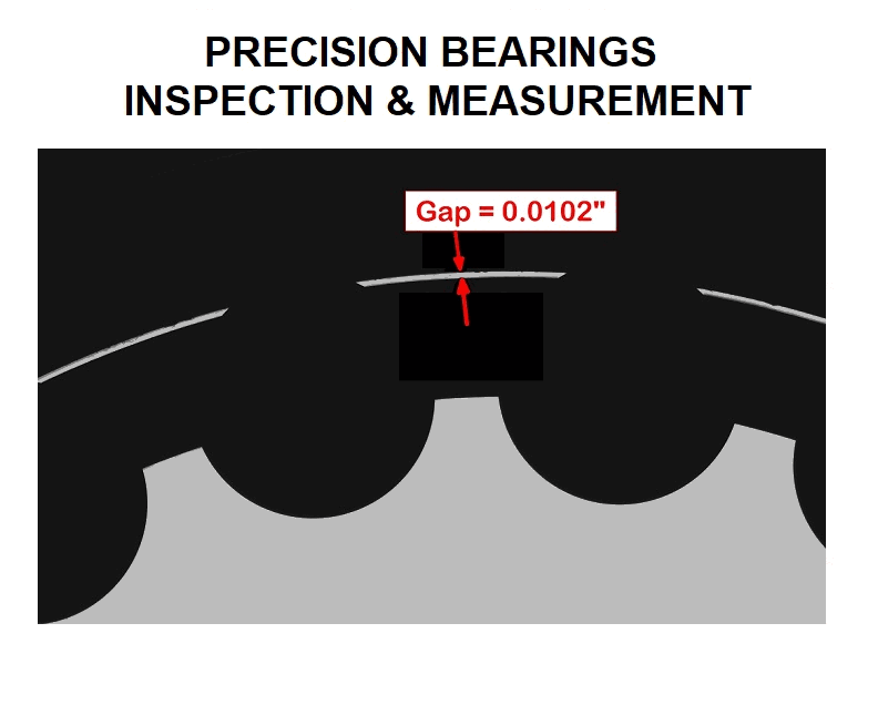 VisionGauge® Digital Optical Comparators are the perfect solution to inspect and measure precision bearings