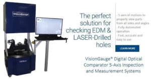 The 700 Series VisionGauge Digital Optical Comparator is the Perfect Solution for Checking EDM-Drilled Holes