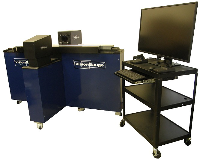 500 Series VisionGauge® Digital Optical Comparator - Super-Extended Travel Configuration