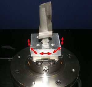 Automatic alignment of a turbine blade fir tree