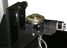 double-rotary stage assembly on a VisionGauge Digital Optical Comparator