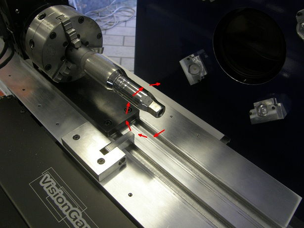 Rotary stage and workholding for turnkey runout measurement application.