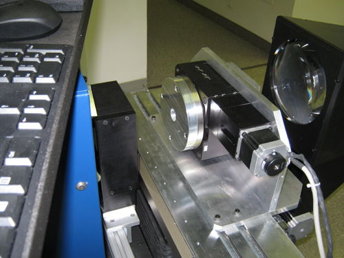 Rotary stage mounted normal to the optical axis on VisionGauge® Digital Optical Comparator