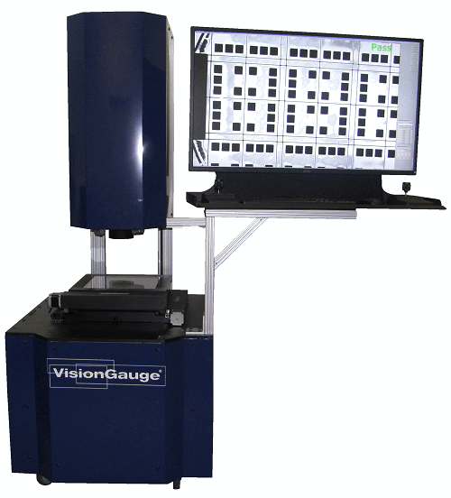 VisionGauge Digital Optical Comparator system in Vertical configuration